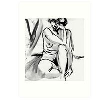 Sad Mouth Nude Art Print