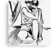 Sad Mouth Nude Canvas Print