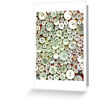 Mother of Pearl Buttons Greeting Card