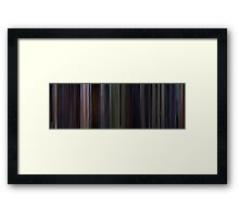 Moviebarcode: Star Wars: Episode VI - Return of the Jedi (1983) Framed Print