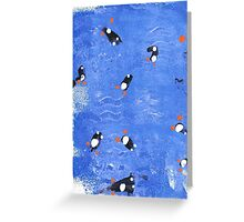 Williams swimming penguins Greeting Card