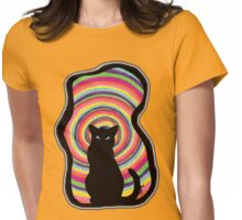 time for child stories: the BLACK CAT Womens Fitted T-Shirt