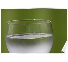 Glass with drink. Poster