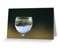 Glass with drink. Greeting Card