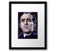 He is the embodiment of all that is evil. Framed Print