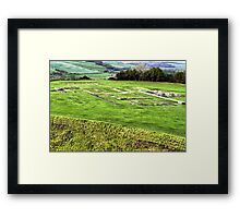 All that remains.....Old Sarum Cathedral, a Norman Cathedral built at Old Sarum, near Salisbury UK Framed Print
