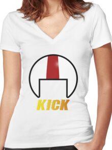 Suburban Daredevil Women's Fitted V-Neck T-Shirt