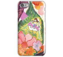A WOMAN IN LEAVES iPhone Case/Skin