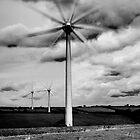 Wind Turbines in Monochrome by Steve Purnell