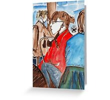 Wow! girl in red Greeting Card