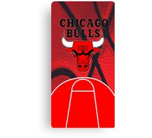 Chicago Bulls Logo Basketball NBA Canvas Print