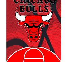 Chicago Bulls Logo Basketball NBA by Labasa