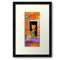 A Lady Called HAPPINESS Framed Print