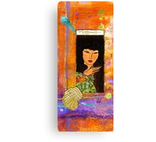 A Lady Called HAPPINESS Canvas Print