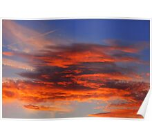 Background of colourful sky. Poster