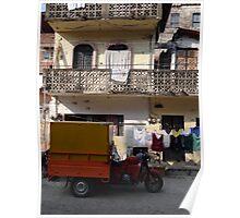 Self-made truck - Camion de fabricación casera Poster