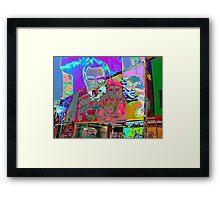 Psychedelic Nixon Framed Print