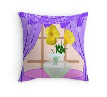 Butter cups in A vase Throw Pillow