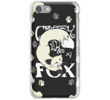 Crazy Like A Fox (White) iPhone Case/Skin
