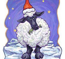 Sheep Christmas Card by ImagineThatNYC