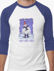 Sheep Christmas Card Men's Baseball ¾ T-Shirt