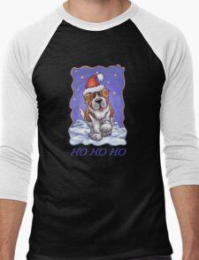 St. Bernard Christmas Card Men's Baseball ¾ T-Shirt