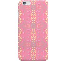 Spring Pink Leaves and Scrolls iPhone Case/Skin
