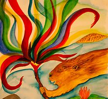 Aquilla the artist carries the torch of colours by Nora Fraser