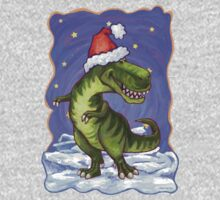 Tyrannosaurus Christmas One Piece - Long Sleeve
