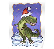 Tyrannosaurus Christmas Poster
