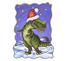 Tyrannosaurus Christmas Photographic Print