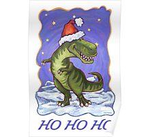 Tyrannosaurus Christmas Card Poster