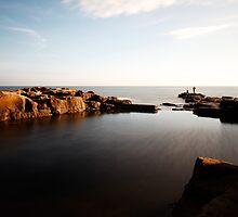 Rock Fishing, Whitley Bay by PaulBradley