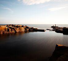 Rock Fishing, Whitley Bay by PaulBradley