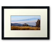 Blue mountains Framed Print