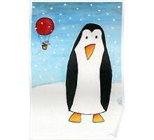 Balloon Mouse & Penguin Poster