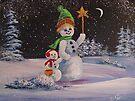 Snowmen in Acrylic 2 by teresa731