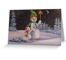 Snowmen in Acrylic 2 Greeting Card