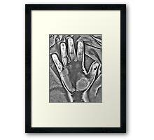 HDR Infrared Hand Scan Framed Print
