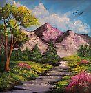 Mountain Stream - Oil & Acrylic by teresa731