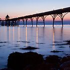 Clevedon Pier at twilight by Robert Down