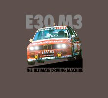 BMW E30 M3 DTM Racer (BASTOS) - Black Text Unisex T-Shirt