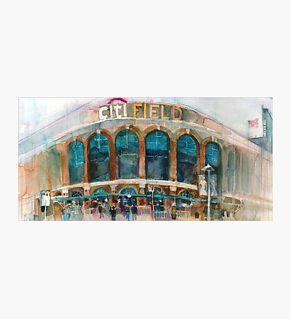 CitiField - Mets Watercolor Print Photographic Print
