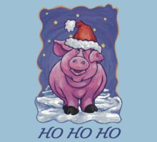 Pig Christmas Card Kids Clothes