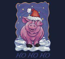 Pig Christmas Card Kids Tee