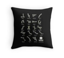 Dialing Address Glyph Set 2 Dark Backgrounds Throw Pillow