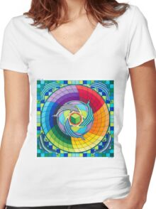 Sirius dolpin color scheme 2 Women's Fitted V-Neck T-Shirt