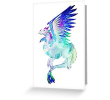 Feathered Dragon Opalite Greeting Card