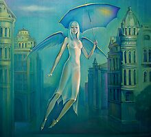 Angel of a rain. by Elena Makarova-Levina