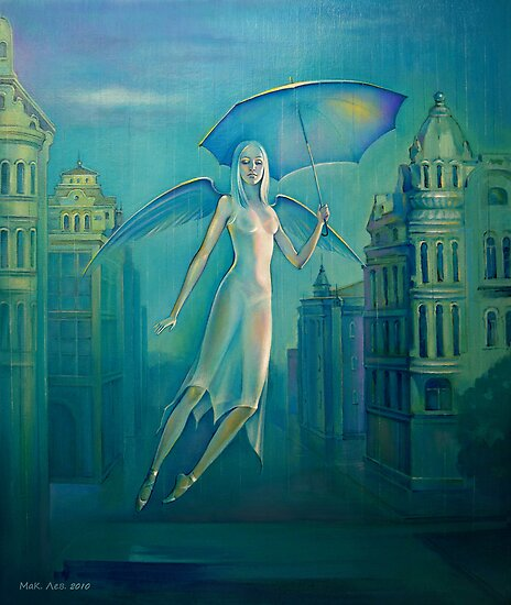 Angel of a rain. by Elena Makarova-Levina